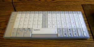 TypeMatrix 2030 with clear rubber cover