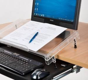 """The level sides are intended for use in this """"step"""" configuration with keyboard trays."""