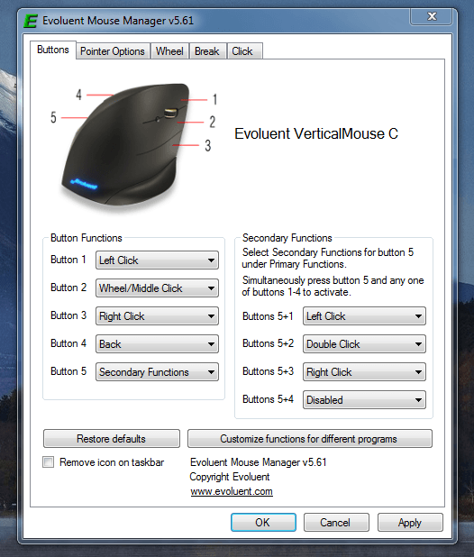 evoluent vertical mouse c 4