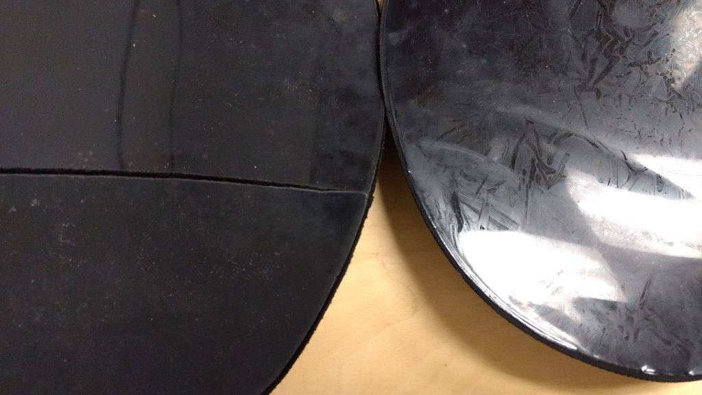 mouse pad with a crack
