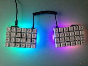 let's split keyboard with lights