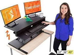 Flexpro Power 40 Inch Electric Standing Desk - Best for Easy Installation