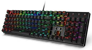 Redragon K556 RGB LED Mechanical Gaming Keyboard - Best For Silent Gaming