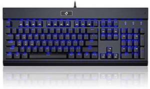 Eagletec KG010 Mechanical Keyboard Blue Switch - Best For Heavy Handed Gamers